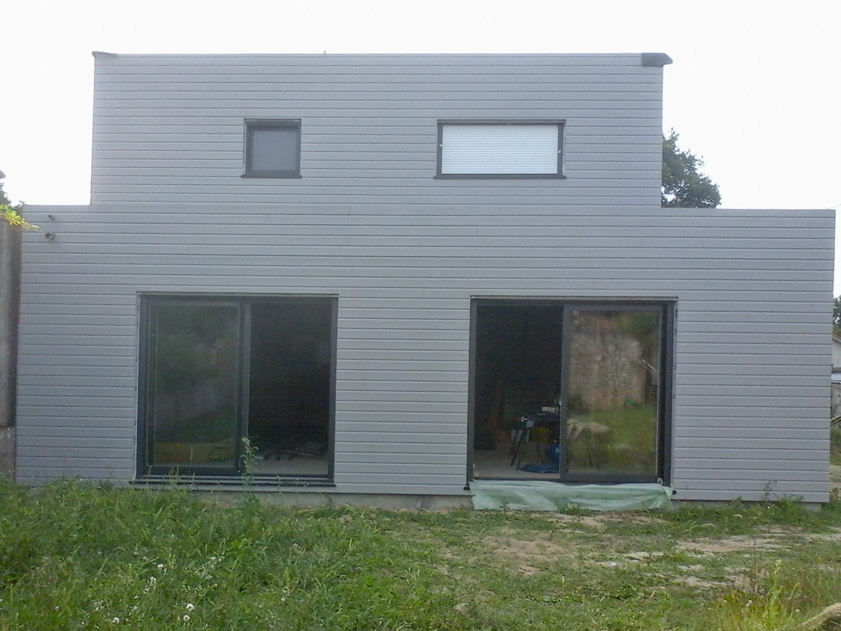 Maison ossature bois crepis exterieur for Exterieur maison bois